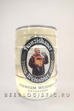 Пиво Францисканер Хефе Вайсбир (Franziskaner hefe weissbier) 5 литров