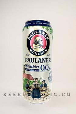Пауланер Вайсбир безалкогольное банка