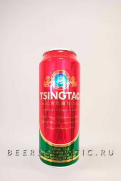 Пиво Циндао (Tsingtao) светлое 0,5 л банка