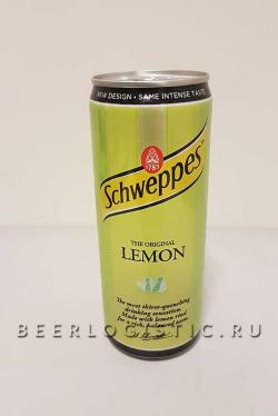 Швепс Лимон 0,33 банка
